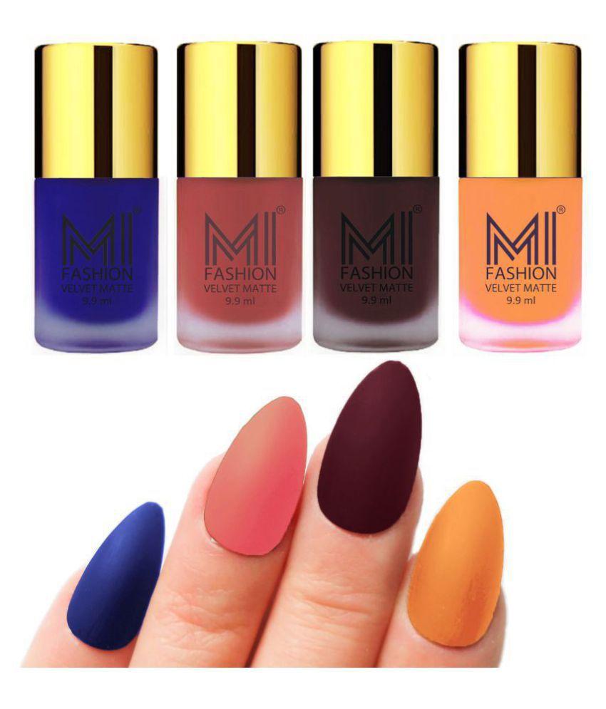 MI FASHION Matte Nail Paint Set Combo Peach Nail Polish