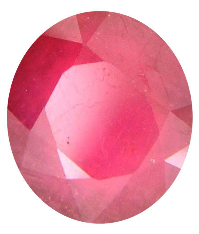 Tejvij And Sons 3.25 -Ratti Self certified Pink Ruby Semi-precious Gemstone