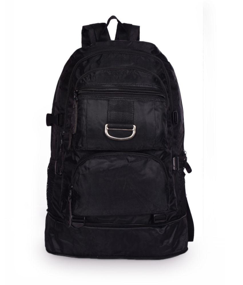 Bagkok Black Polyster Backpack