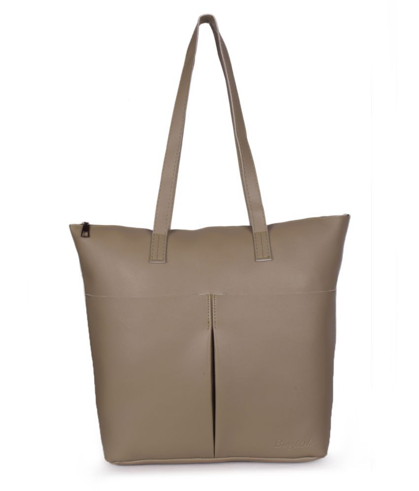 Bagkok Green P.U. Tote Bag