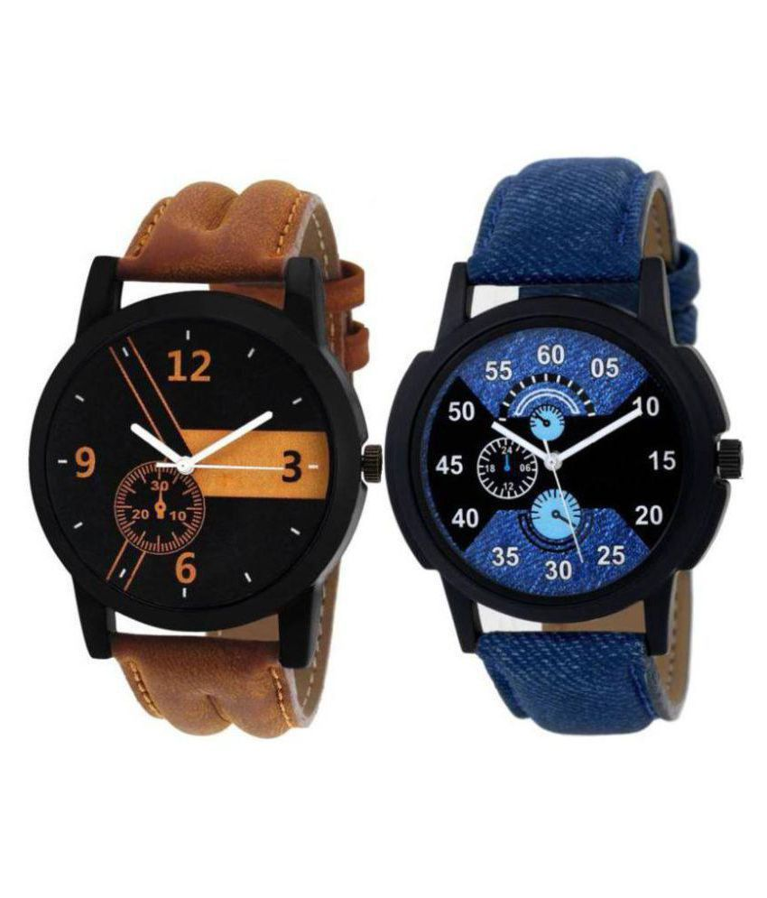 chaya fashions New Stylish Leather strap Analog Watch   For Boys