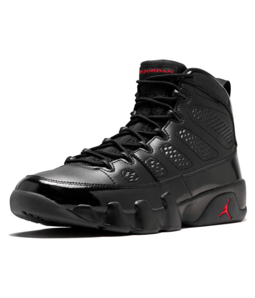 the latest 83090 1dd32 Nike Jordan RETRO 9 Black Basketball Shoes