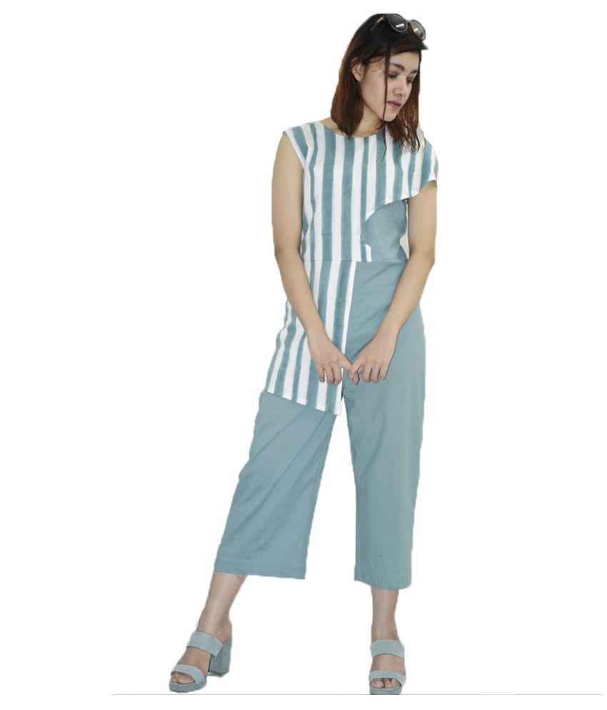Rajneeral Babutta Group Cotton Green Regular Dress