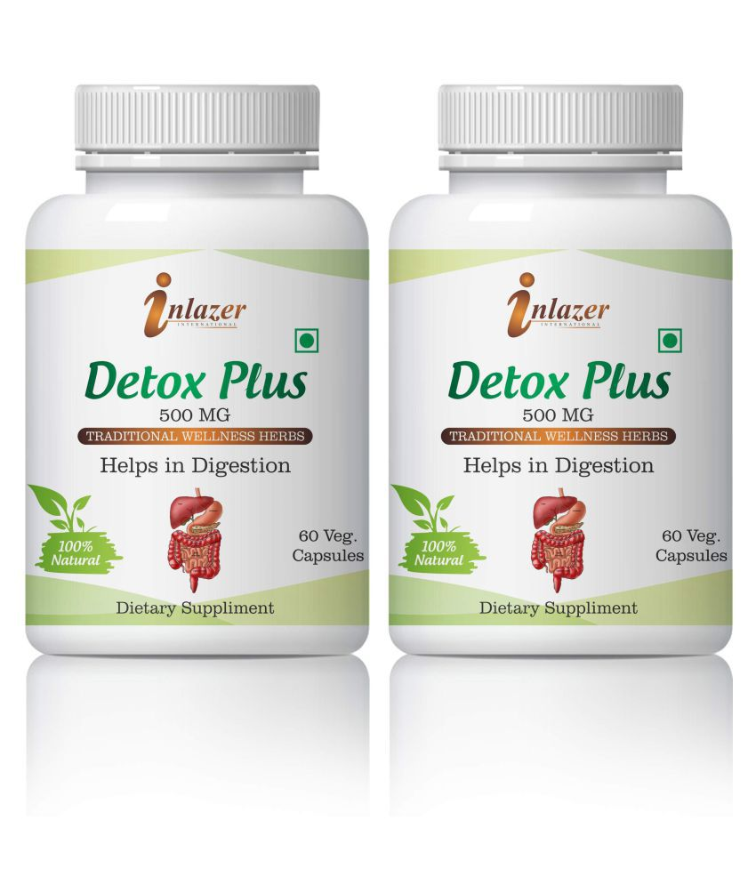 Inlazer Detox digestion Food And Bodies Immune Capsule 500 mg Pack Of 2