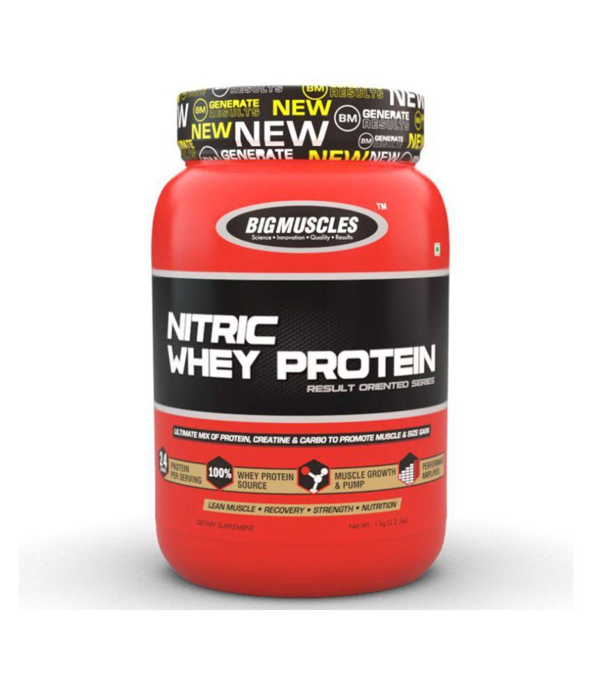 BIGMUSCLES NUTRITION Nitric Whey Protein Strawberry Banana Twirl 900 gm