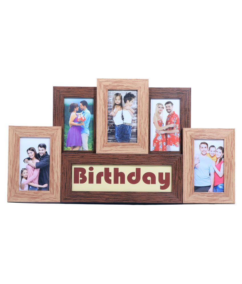 Art Affair Wood Table Top & Wall hanging Multicolour Collage Photo Frame - Pack of 1
