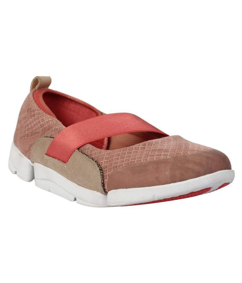 Clarks Pink Casual Shoes