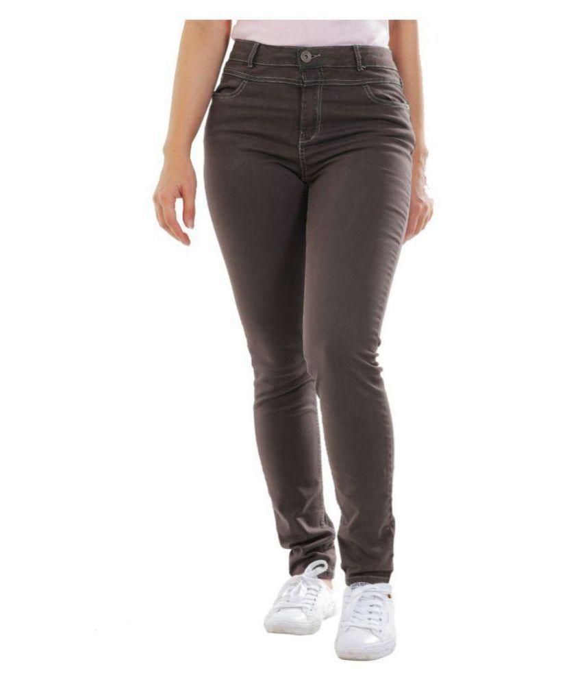 Timbre Denim Lycra Jeans - Brown