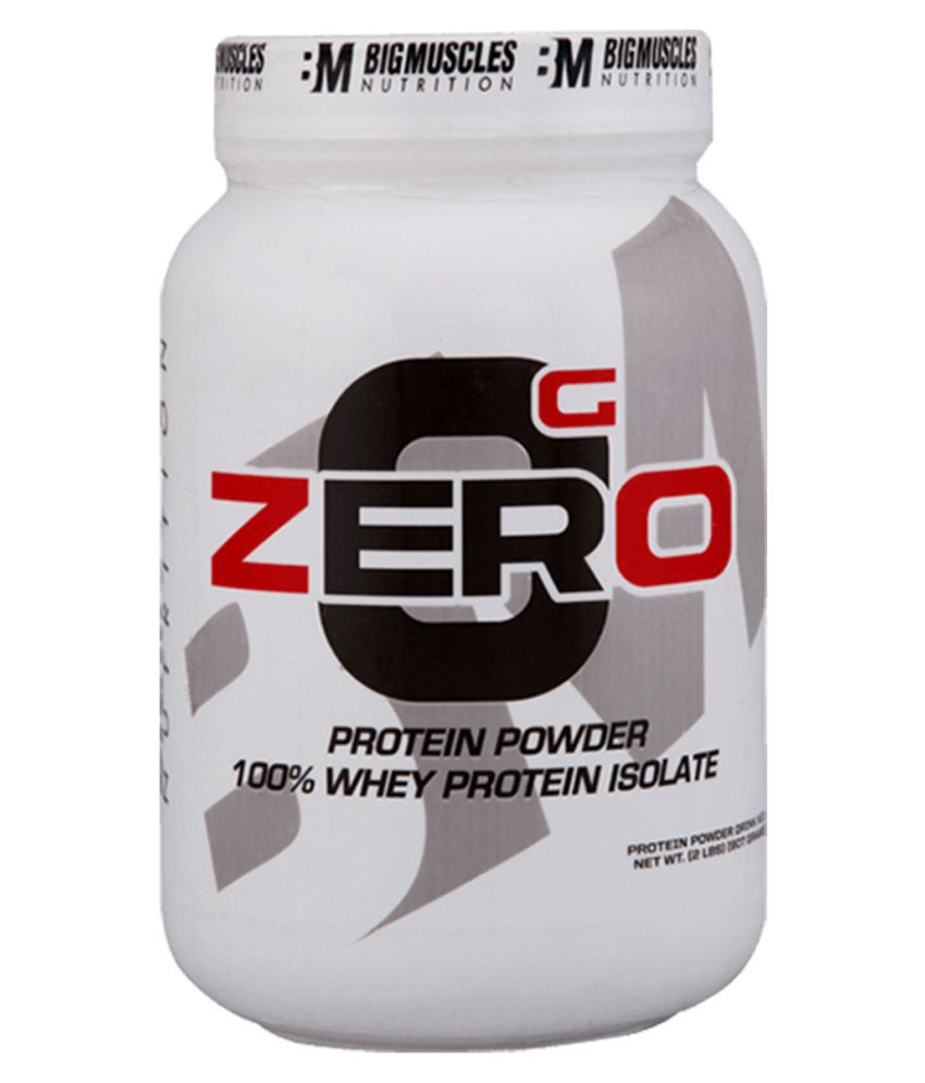 BIGMUSCLES NUTRITION Zero Whey Protein Isolate Rich Chocolate 900 gm