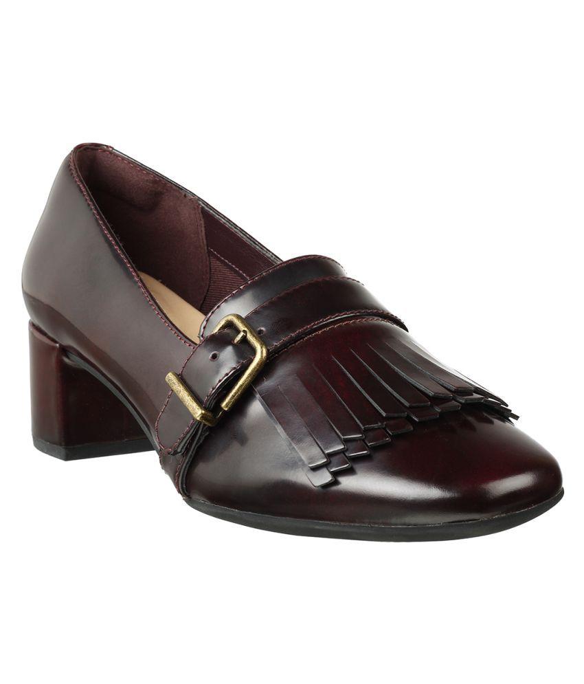 Clarks Purple Casual Shoes