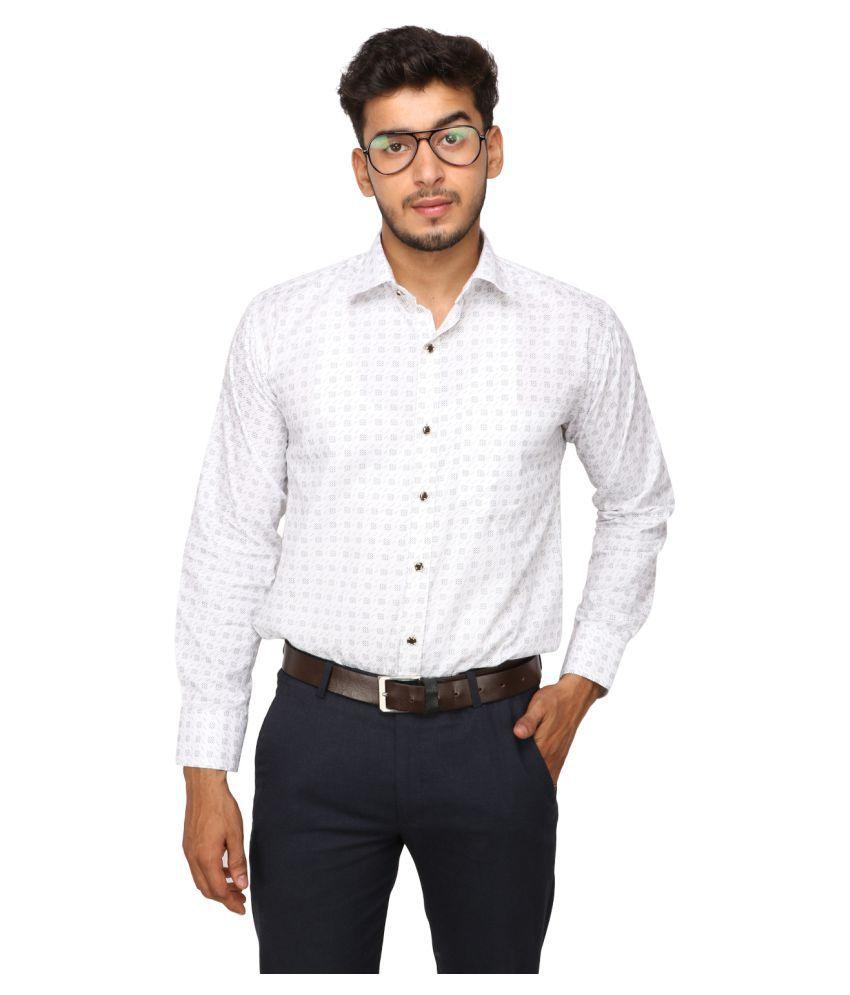 Koxko 100 Percent Cotton Navy Prints Shirt