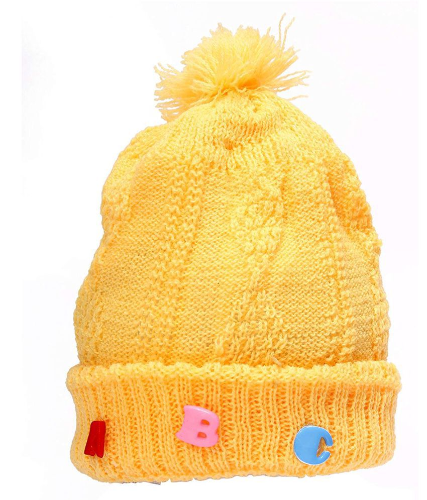 Babeezworld Yellow Wollen Baby Cap