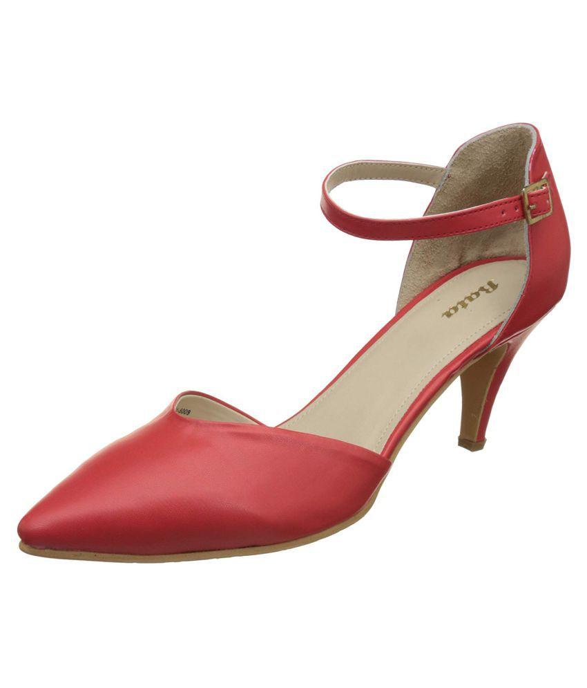 Bata Red Cone Heels