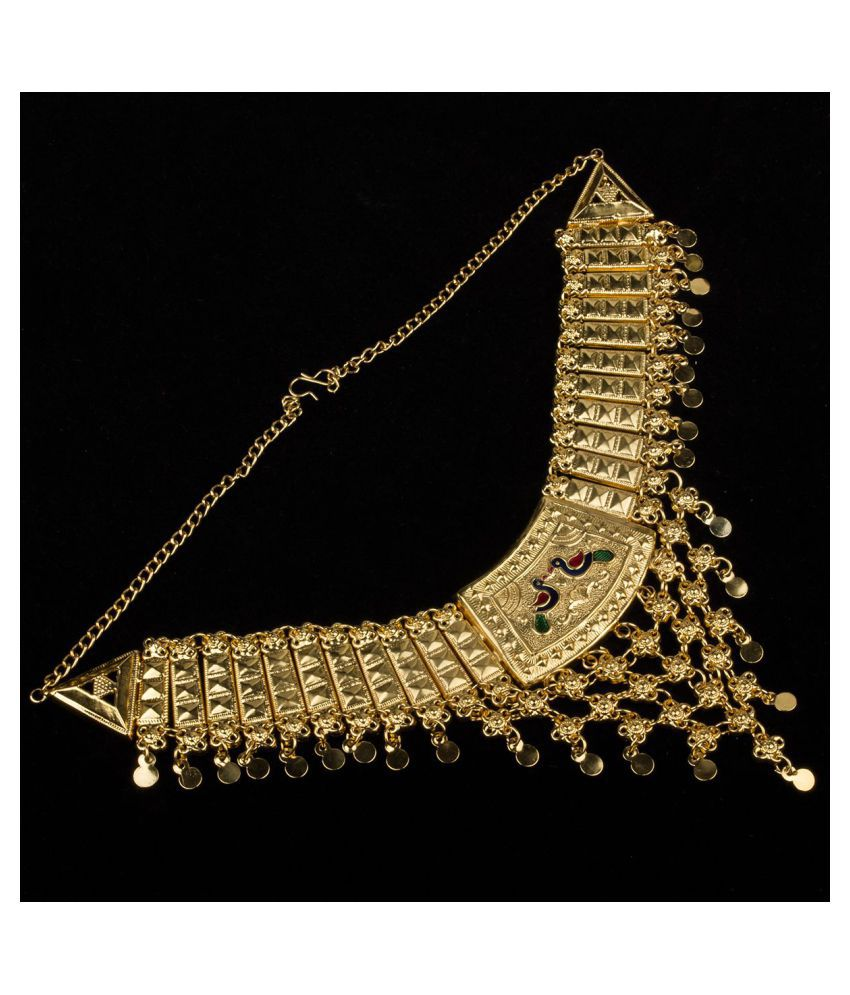 Piah Brass Golden Designer Necklace Choker