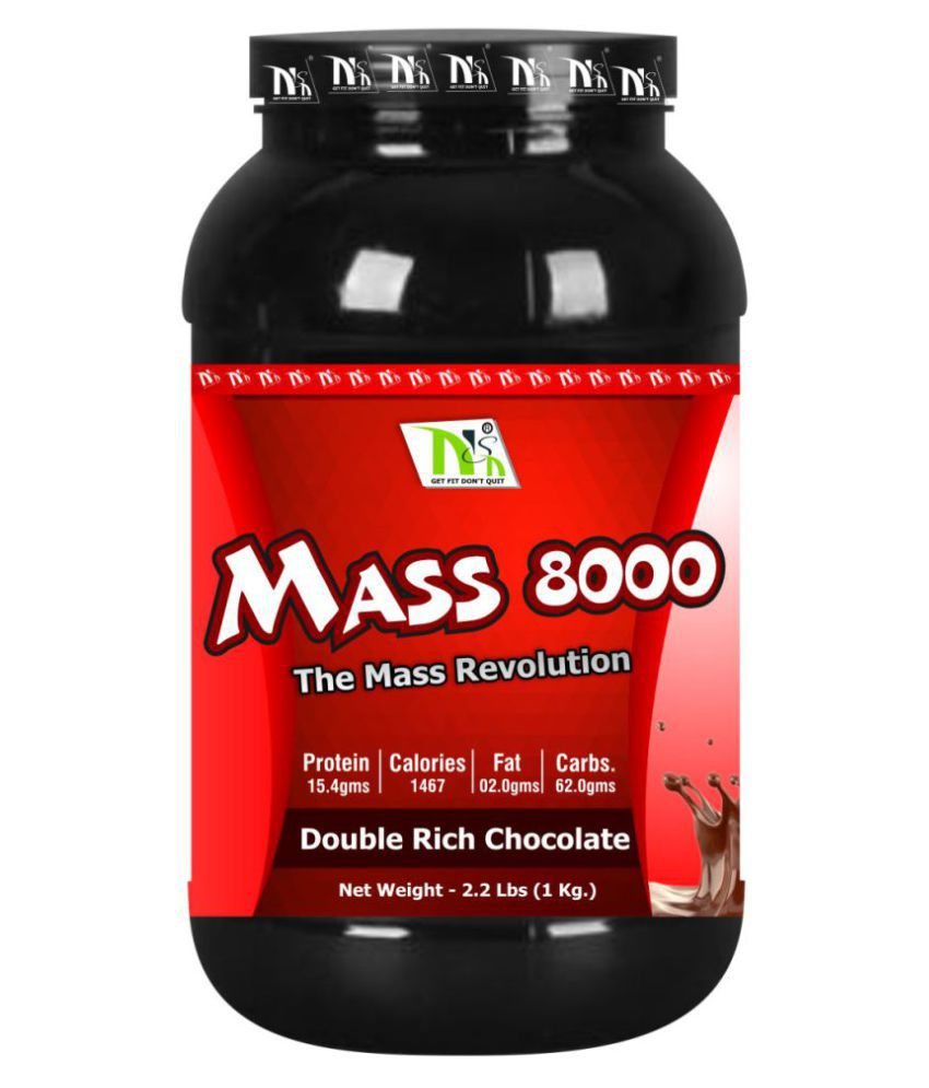 NSN MASS 8000 1 kg Weight Gainer Powder Single Pack