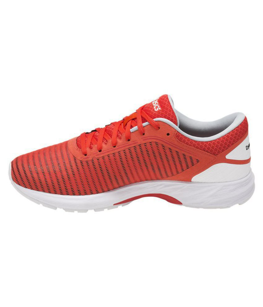 the best attitude 3f948 97651 Asics DynaFlyte 2 Red Running Shoes