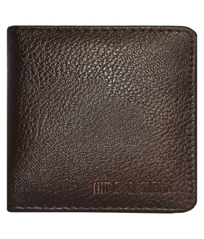 Hide&Sleek Flap Brown Card Holder