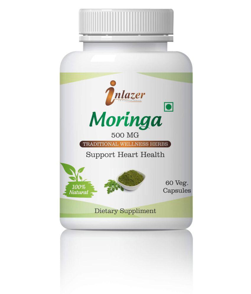 Inlazer Ayurvedic Moringa Overall Health Support Capsule 500 mg Pack Of 1