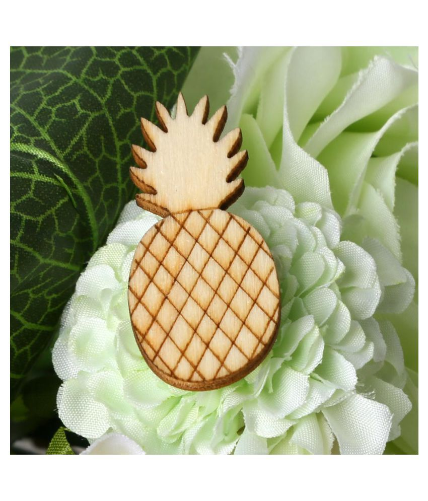 32pcs Wooden Ornament Pineapple Shape for DIY Scrapbooking Home ...