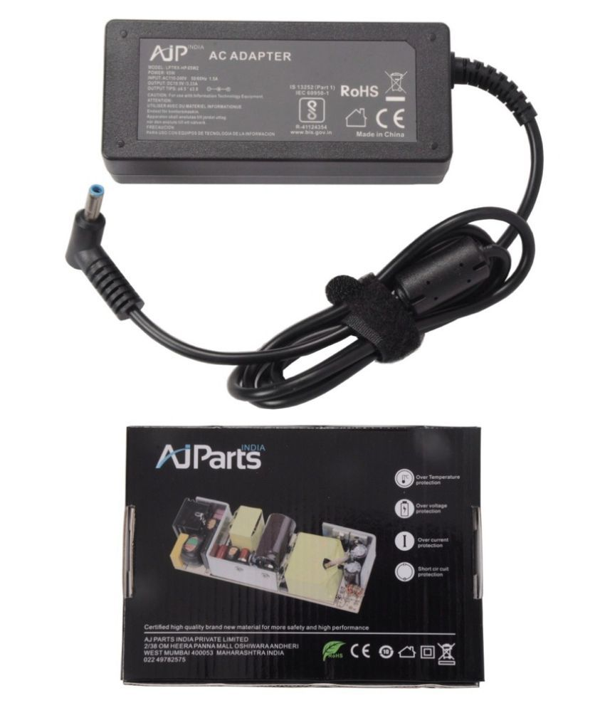 AJP India Laptop adapter compatible For HP Pavilion 15-P247NA  4.5MM x 3.0MM Charger Power Supply 19.5V 3.33A 65W