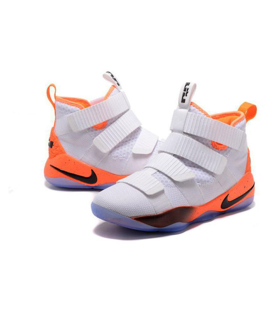 the best attitude beeac 2b01d Nike 2018 LeBron Soldier 11 LTD White Basketball Shoes