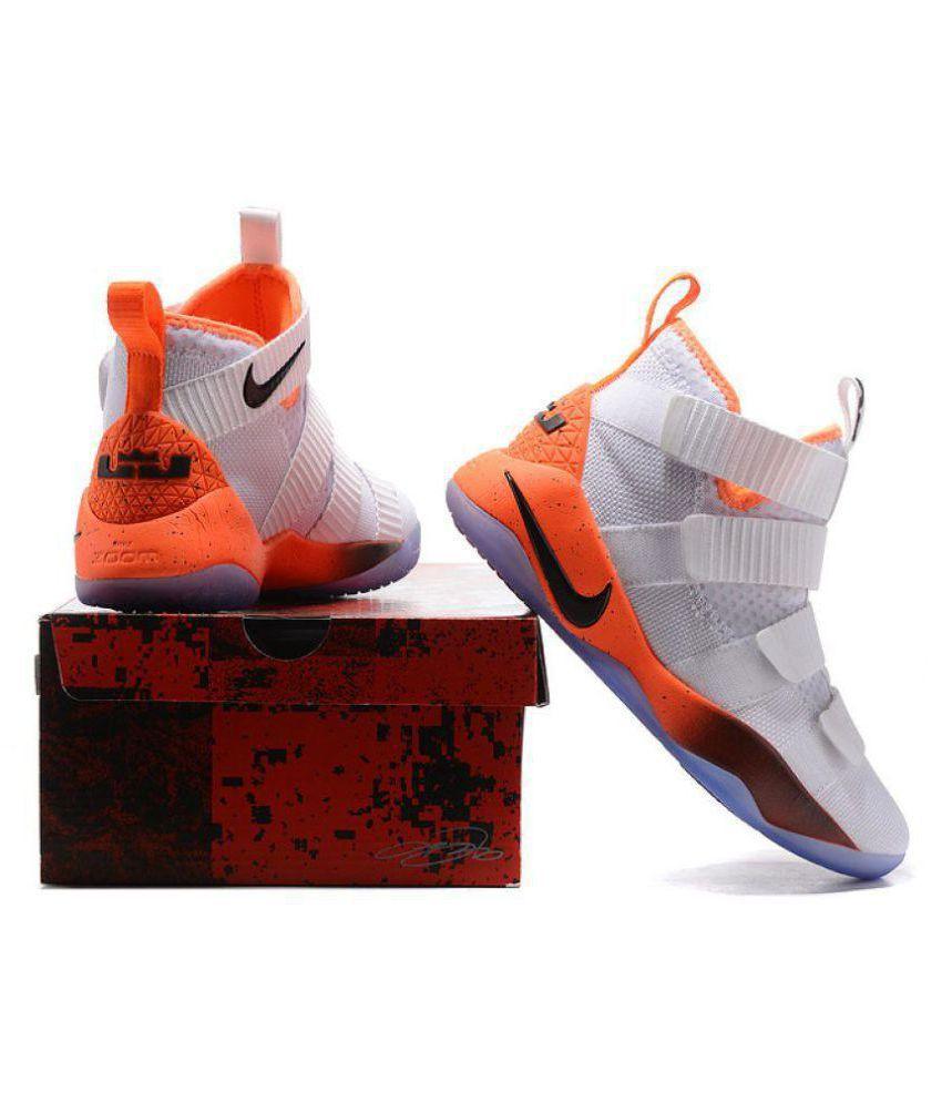 the best attitude 629ea 1833e Nike 2018 LeBron Soldier 11 LTD White Basketball Shoes