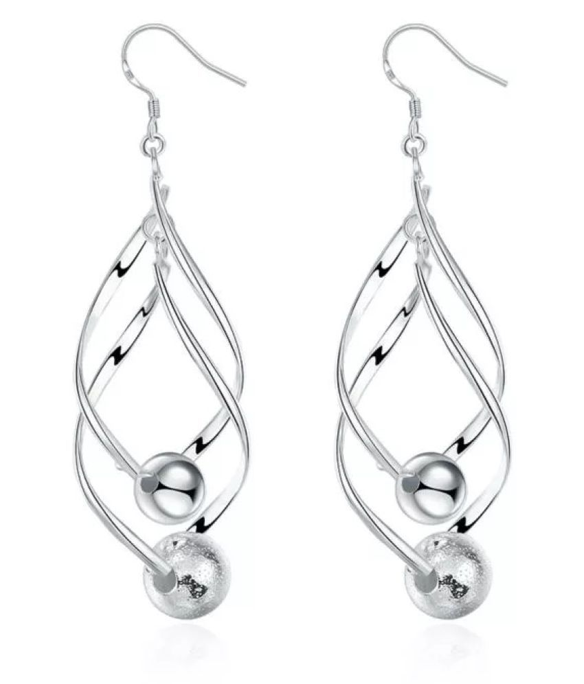 Mizorri Silver plated  Gloss Ball Earrings