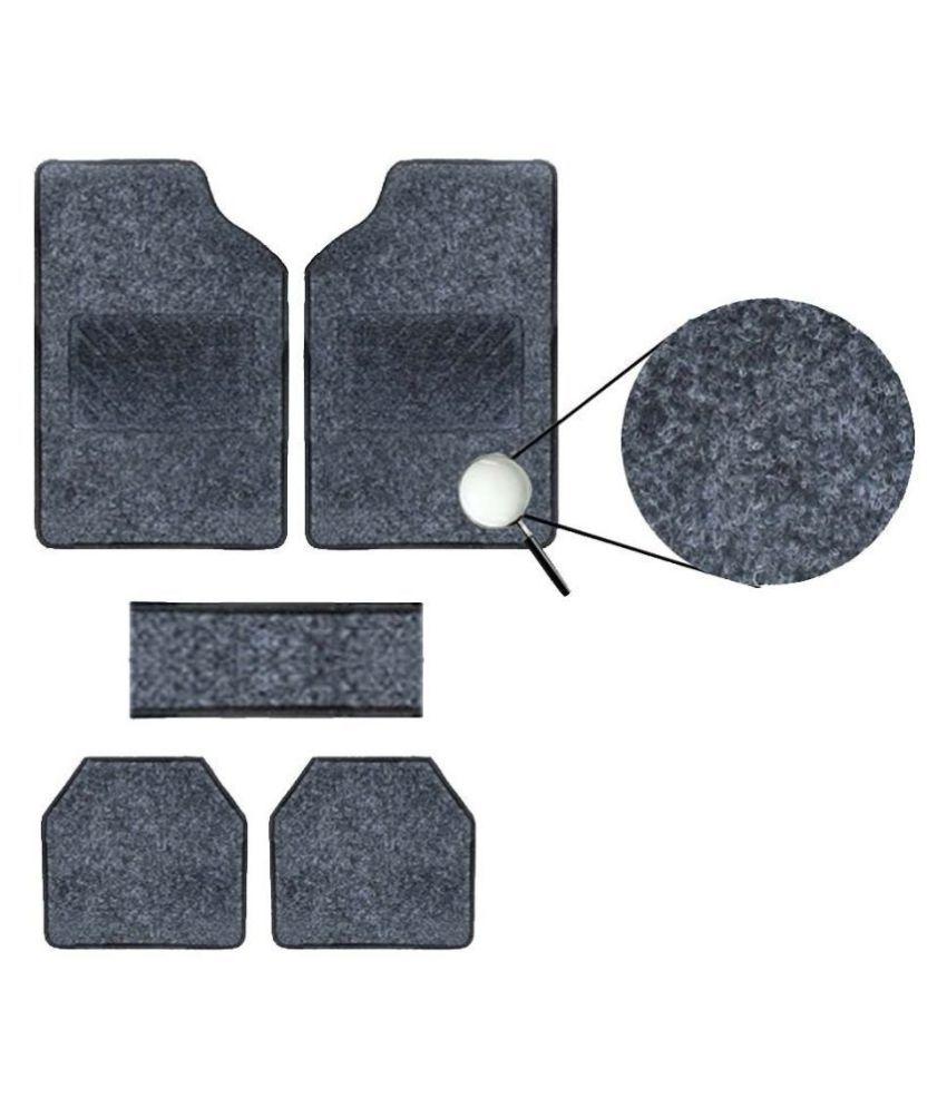 Autofetch Carpet Car Floor/Foot Mats (Set of 5) Black for Maruti Zen Estilo (2006-2015)
