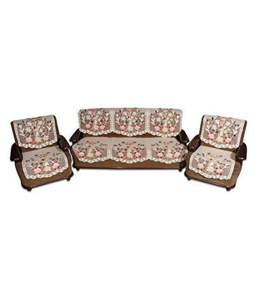 Vaibhav industries 5 Seater Cotton Set of 6 Sofa Cover Set