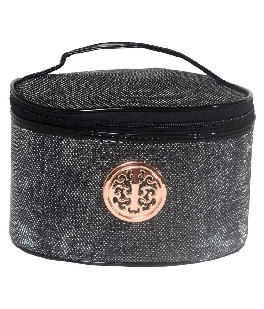 Bonjour Paris Black Vanity Kit and pouches - 1 Pc