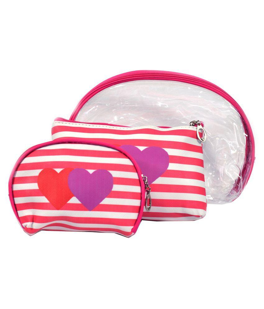 Bonjour Paris Pink Vanity Kit and pouches - 3 Pcs