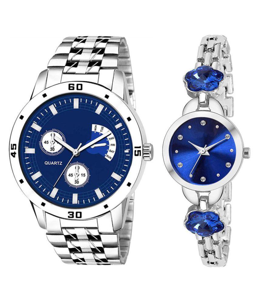HERITA ENTERPRISES Blue Dial  New Stylish Couple Watch For Men And Women DR288