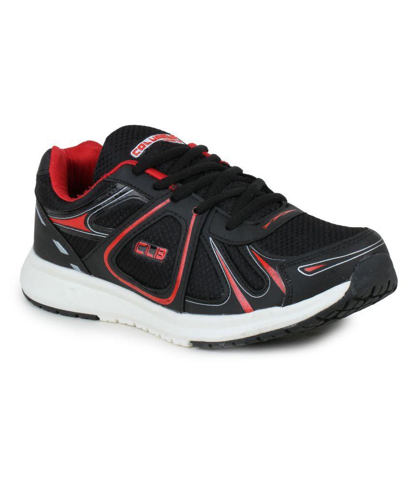 Columbus LD-0023-Black Red Black Running Shoes