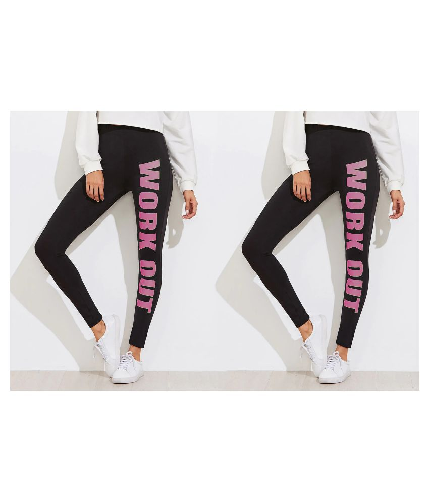 Good Connection Poly Cotton Jeggings - Black