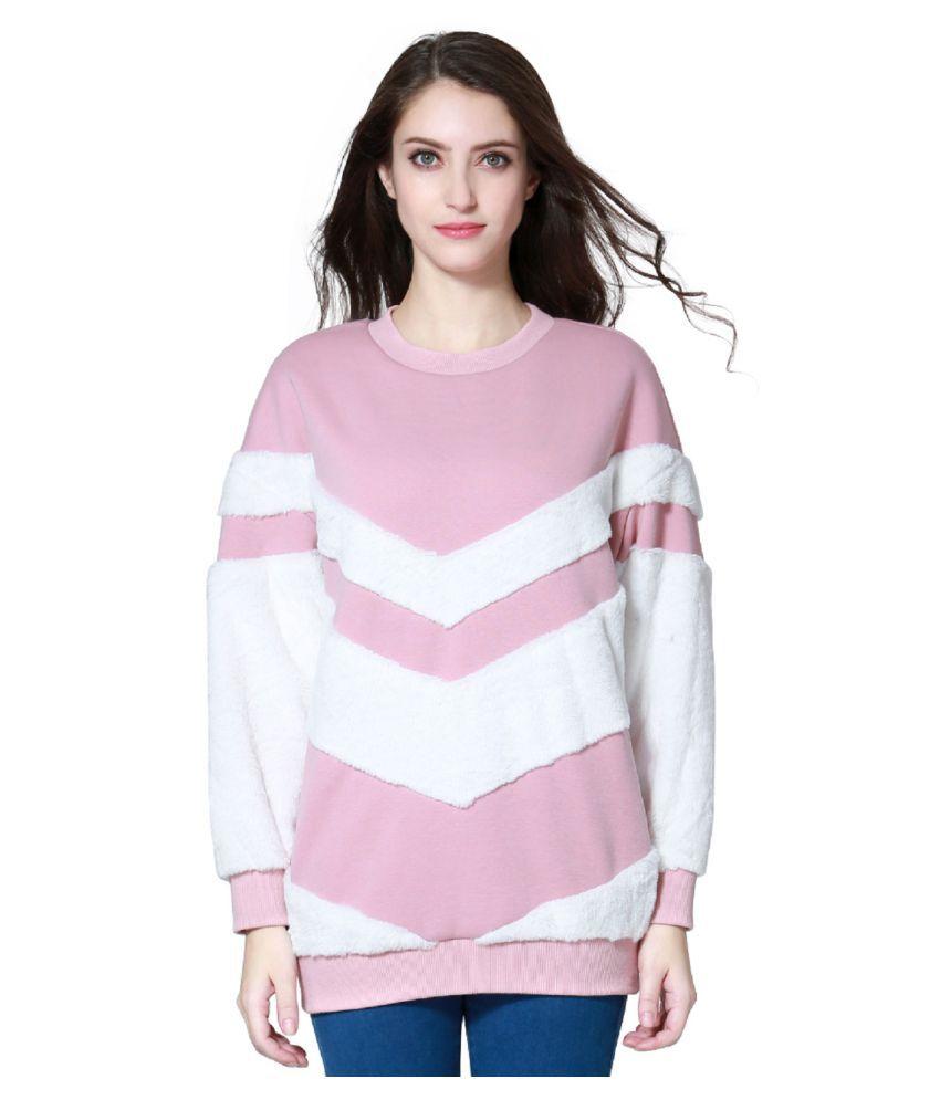 London Rag Polyester Pink Non Hooded Sweatshirt