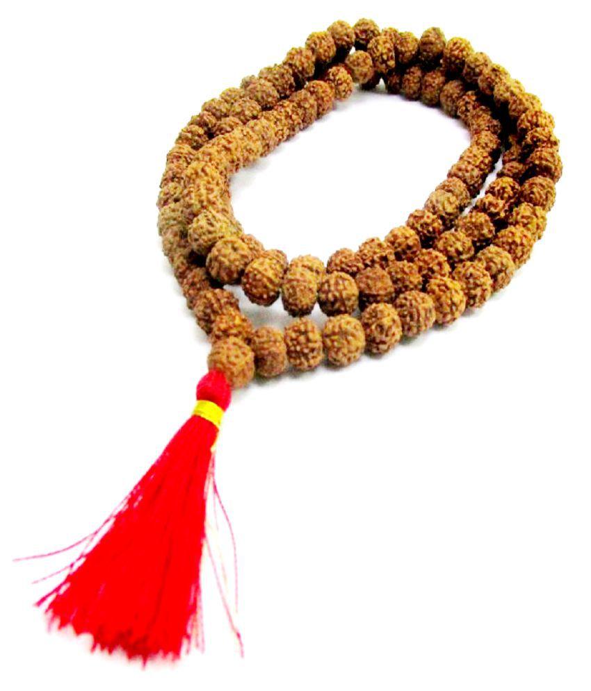 ShivaRatna 4 Mukhi Rudraksha Mala 108+1 Beads Certified (30 cm Length Approx)