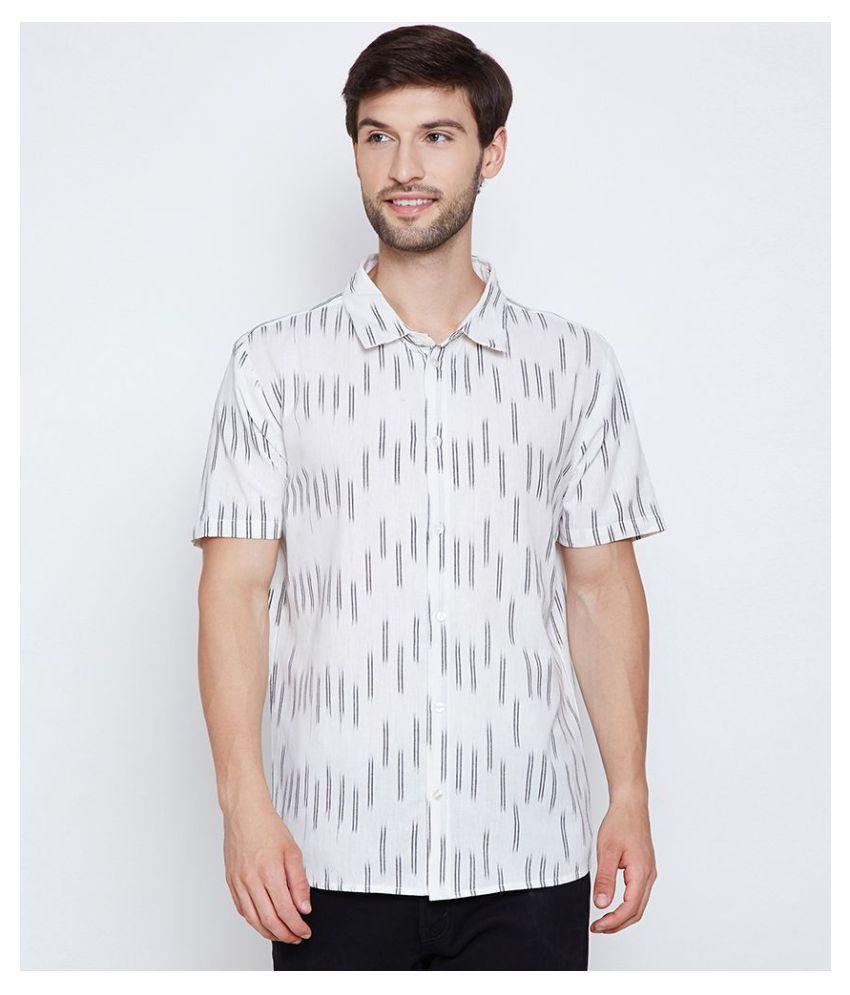 Oxolloxo 100 Percent Cotton Off-White Prints Shirt