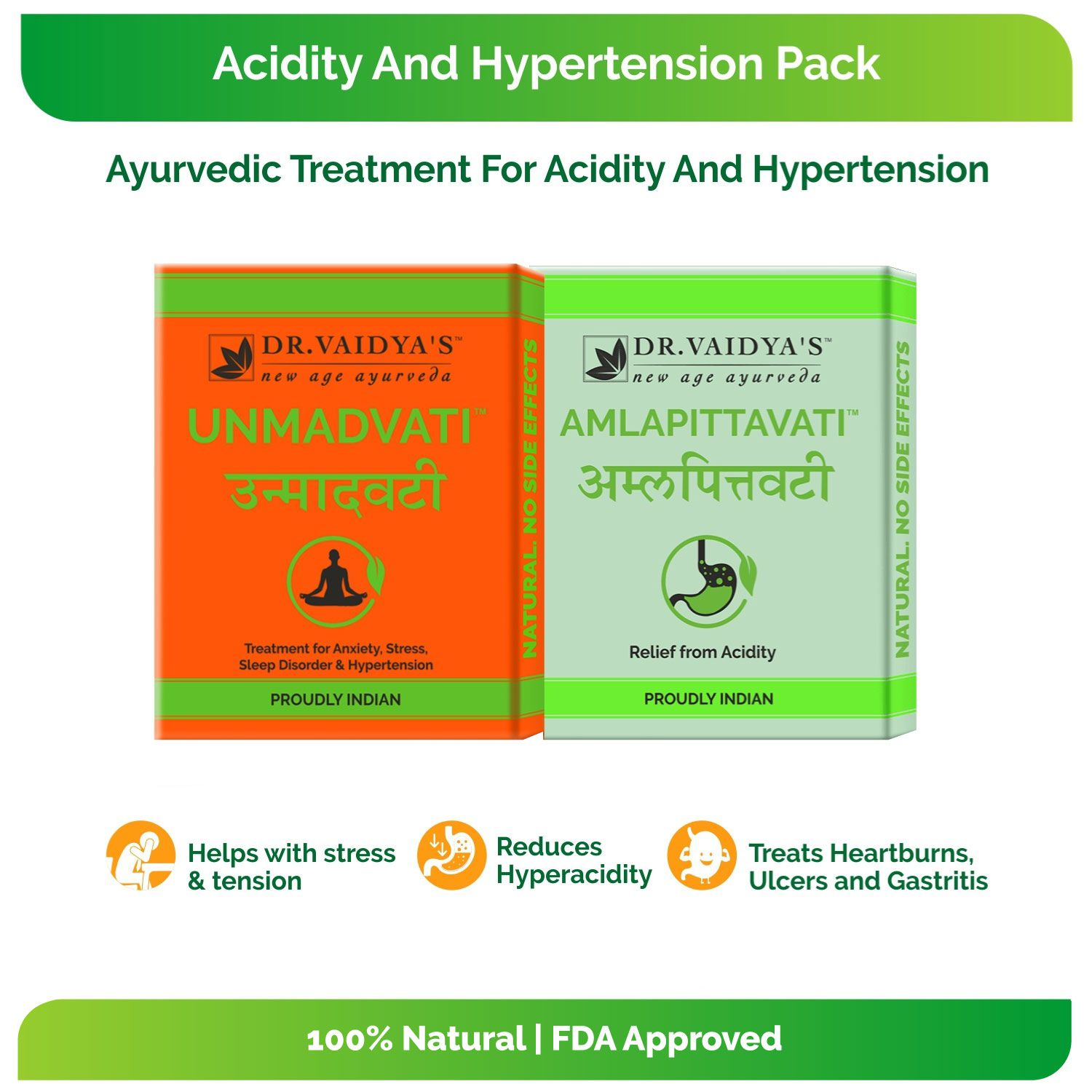 Dr Vaidyas Acidity and Hypertension Pack Capsule 2 no.s