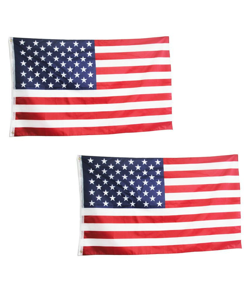 USA with President Logo Polyester Flag w// Brass Grommets 3 x 5ft