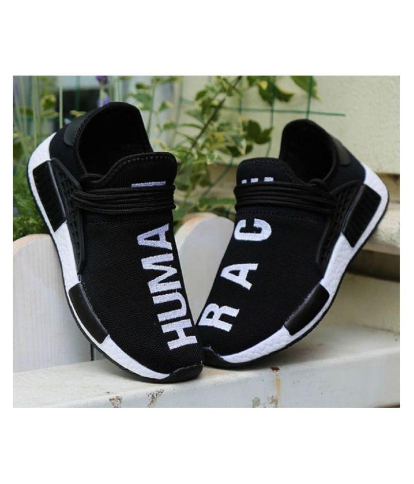 brand new b8d6c 9a9c0 Adidas Human Race Black Running Shoes