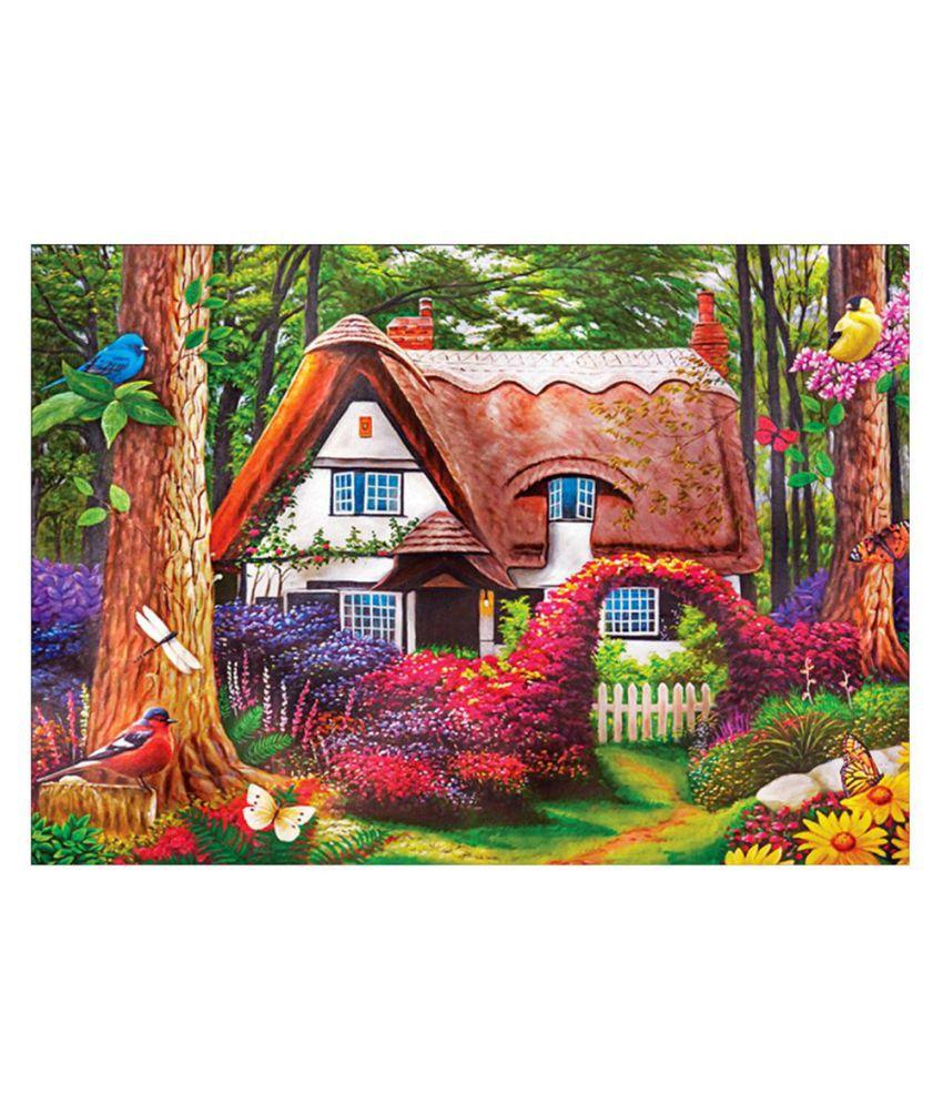 5D DIY Full Drill Home Cottage Diamond Painting Cross Stitch Kit Home Art Decor