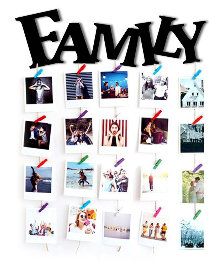 VAH VAH FAMILY Hanging Photo Display  Wall Hanging Wood Photographs Without Frame