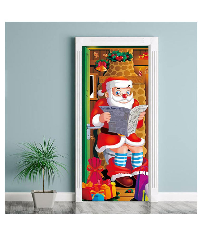 3d Christmas Door Covers Christmas Party Decorations Door Toilet 31 X 78 Inch Buy 3d Christmas Door Covers Christmas Party Decorations Door Toilet 31 X 78 Inch At Best Price In India On Snapdeal