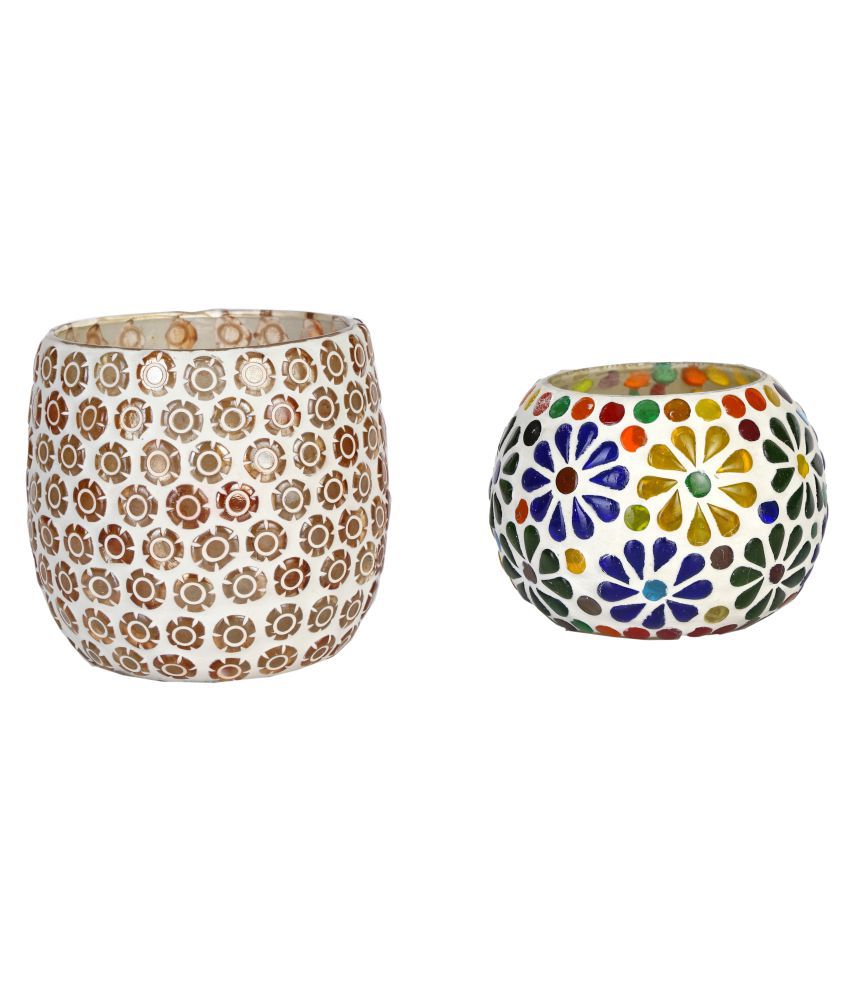 AFAST Glass Party Decor Multicolour - Pack of 2