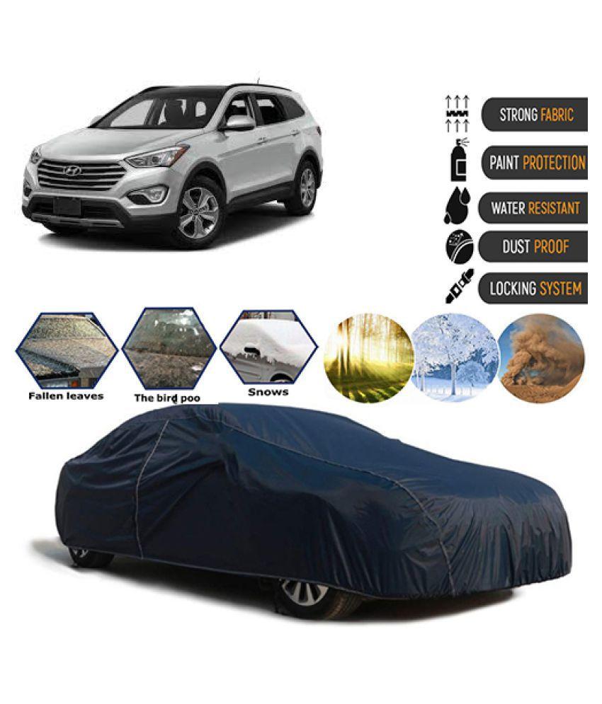 Goldkart Car Body Cover for Hyundai Santa Fe [2014-2015] Blue