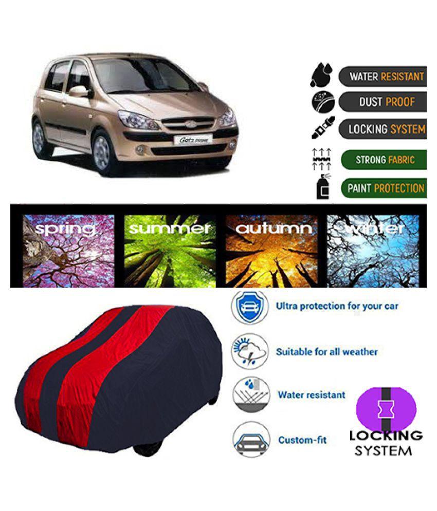 Goldkart Car Body Cover for Hyundai Getz Prime [2007-2010] Maroonblue