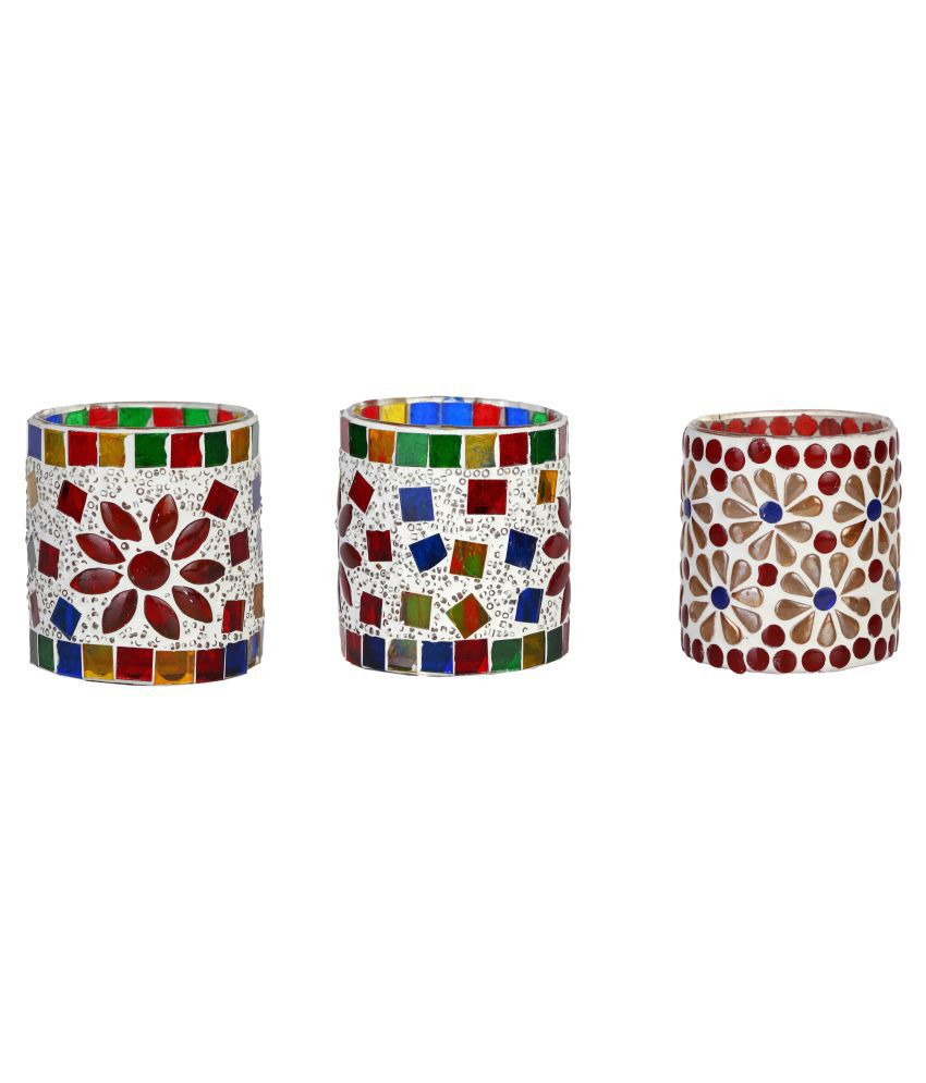 AFAST Glass Party Decor Multicolour - Pack of 3