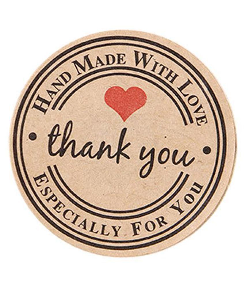 Round Love Heart Thank You Stickers Diy Cake Baking Gift Box Labels Sticker Buy Round Love Heart Thank You Stickers Diy Cake Baking Gift Box Labels Sticker At Best Price In India