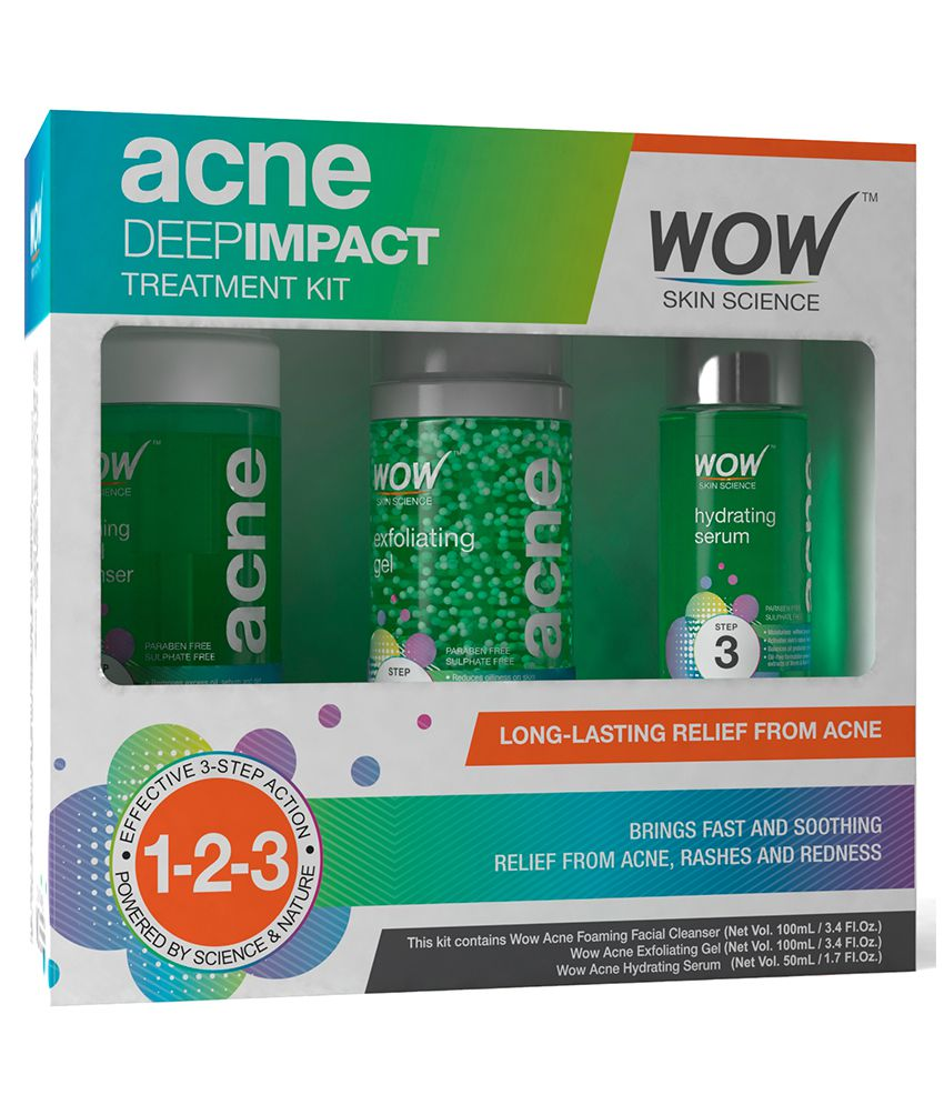 WOW Skin Science Deep Acne Impact Treatment Kit 250 mL