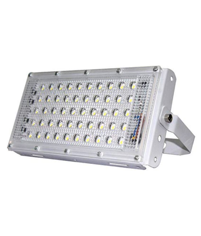 Lights Whites 50 Watts IP 65 Outdoor Wall lights Cool Day Light - Pack of 1